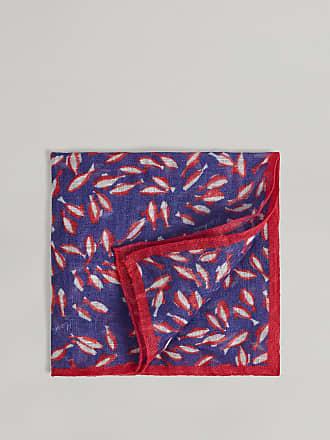 Hackett Koi Linen Pocket Square   Navy