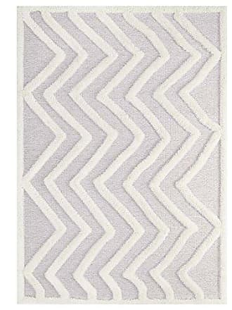 ModWay R-1156A-58 Pathway Area Rug, 5X8, Ivory and Light Gray