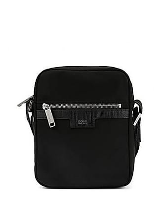a210b1b3d7 BOSS Cross-body bag in nylon gabardine with leather trim