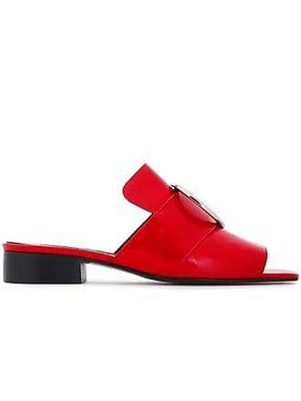 0601292f0 DORATEYMUR Dorateymur Woman Harput Embellished Suede Slides Red Size 38