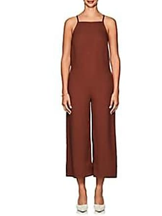 NOMIA Womens Crepe Crop Jumpsuit - Lt. brown Size 6