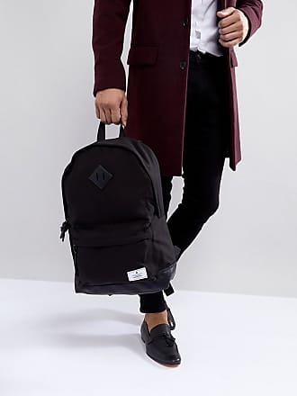 da4e05702c Asos Sac à dos en toile avec base en similicuir - Noir - Noir