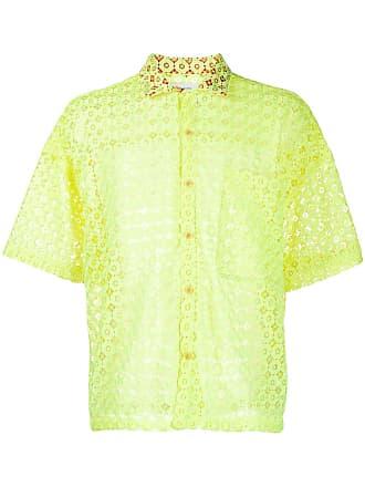 Facetasm Camisa de renda - Amarelo