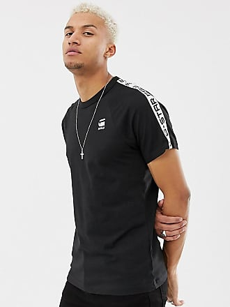 G-Star G-star Satur raglan taped t-shirt in black - Black