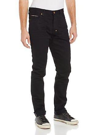 Prps Mens Fury Tapered Leg Raw Selvedge Jean in Black, Black, 31