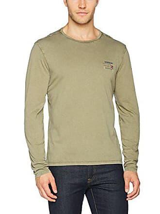 8b074fbea4 Camisetas De Manga Larga Verde Oscuro  Compra desde 8