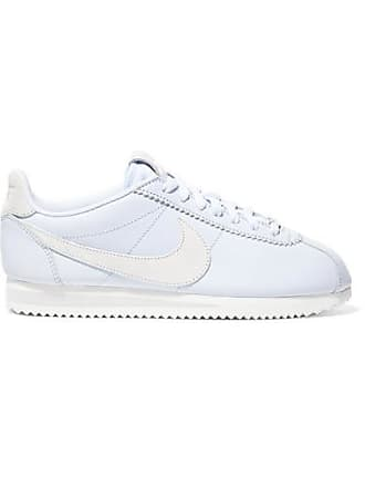 Nike Classic Cortez Faux Suede-trimmed Leather Sneakers - Light blue