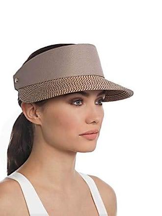 71a2ffee401 Eric Javits Luxury Womens Designer Headwear Hat - Champ Visor - Bark