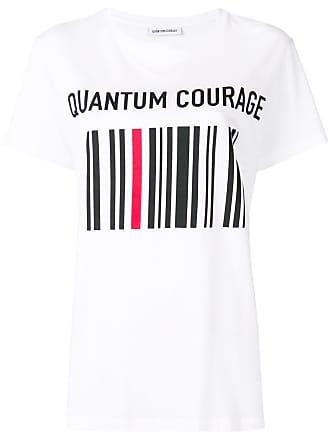 Quantum Courage Camiseta com estampa brocada - Branco