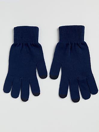Asos touchscreen gloves in navy - Navy