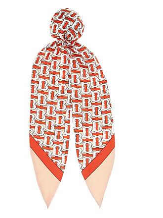 Burberry Logo silk-twill hair scarf