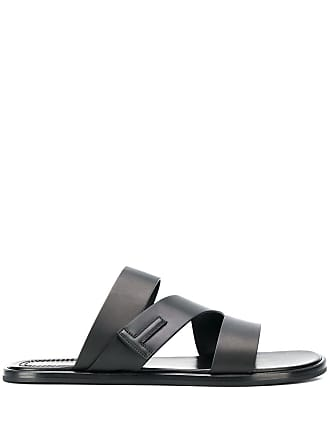 Tom Ford logo open-toe sandals - Black