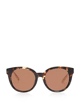 Bottega Veneta Tortoise Round Sunglasses Brown