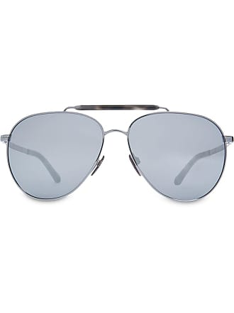8f0965bcb858 Burberry Sunglasses Top Bar Detail Pilot Sunglasses - Metallic