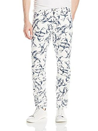 G-Star Mens 5622 Elwood X25 Jeans by Pharrell Williams in Chinese Willow, Milk/Sapphire Blue Allover, 30x32