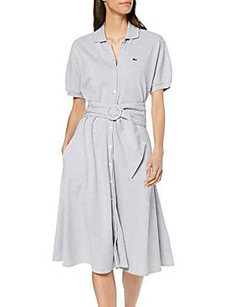 a6364a2f55 Lacoste EF3089 Robe Femme Gris (Argent Chiné Cca) 38 (Taille Fabricant:38
