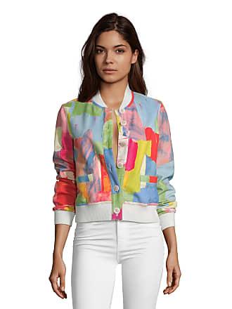 Robert Graham Womens Rosario Suede Paintbrush Print Bomber Jacket Size: XS by Robert Graham