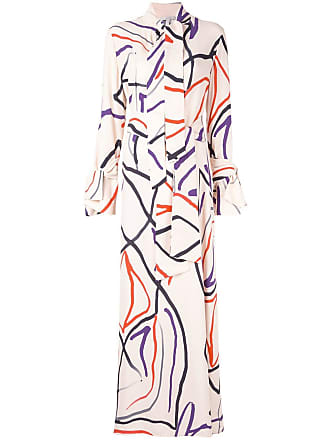 Layeur Vestido com estampa abstrata - Estampado