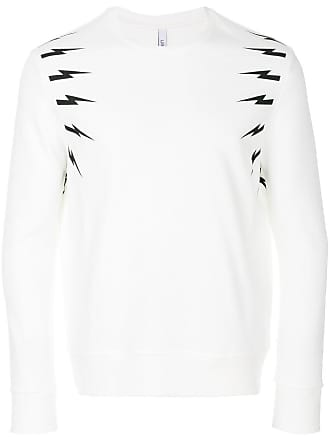 Neil Barrett Camiseta mangas longas - Branco