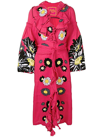 Yuliya Magdych Loves Me embroidered dress - Pink