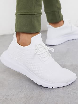 New Look knitted running trainer in white