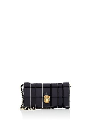 Prada Womens Windowpane-Plaid Satin Shoulder Bag - Black 9b3d7b18d7cbe