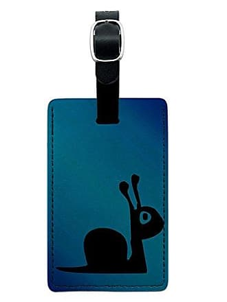 Graphics & More Graphics & More Snails Pace Leather Luggage Id Tag Suitcase Carry-on, Black
