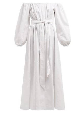 Mara Hoffman Malika Off The Shoulder Cotton Dress - Womens - White