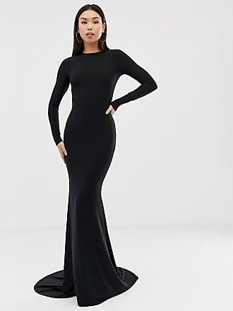 b0cec7a7e52 Club L fishtail maxi dress in black - Black