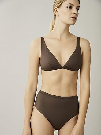 Asceno Cannes Dusk Brown Bikini Top