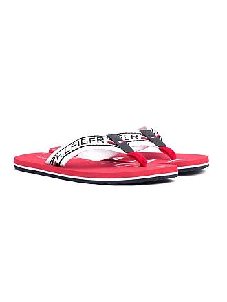 797cfe41bc2f Tommy Hilfiger Seasonal Stripe Mens Tango Red Sandals-UK 8   EU 42