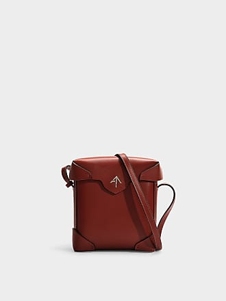 e57aae220146 Manu Atelier Pristine Mini Bag in Red Vegetable Tanned Calfskin