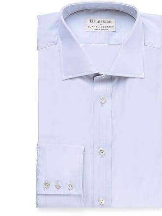 99d32d1e1e52 Kingsman + Turnbull & Asser Cutaway-collar Striped Cotton Shirt - Blue