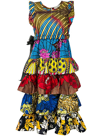 5 Progress printed tiered dress - Amarelo