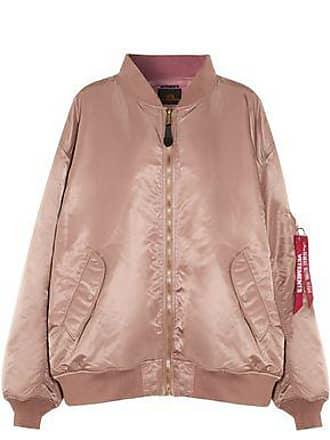 VETEMENTS Vetements Woman + Alpha Industries Reversible Oversized Shell Bomber Jacket Blush Size M