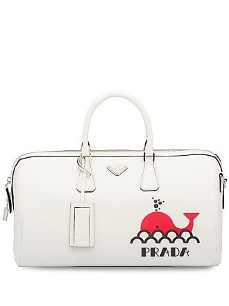 7665c4485a0d Prada printed Saffiano leather travel bag - White