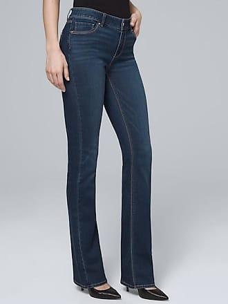 White House Black Market Womens Mid-Rise Bootcut Jeans by White House Black Market, Medium Wash, Size 00 - Regular