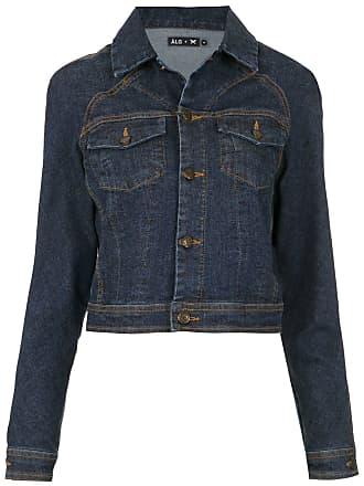 À La Garçonne Jaqueta jeans mangas raglã ÀLG + HERING - Azul