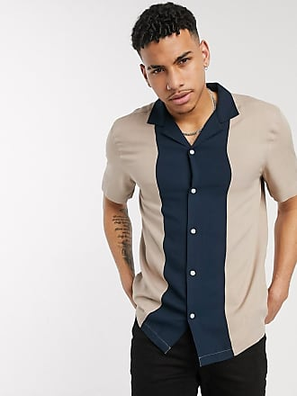 Burton Menswear cut and sew shirt in camel-Tan