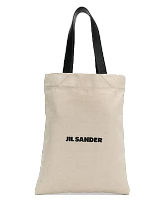 Jil Sander Logo tote bag - Neutrals