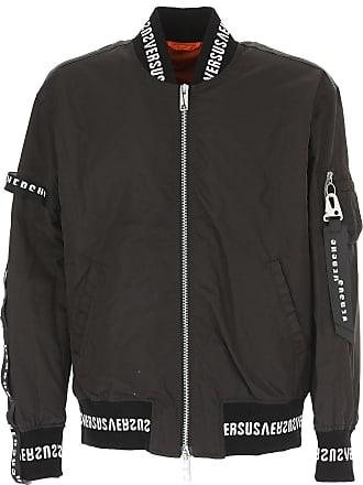 Versace Jacket for Men On Sale in Outlet, Black, polyamide, 2017, L M S XL