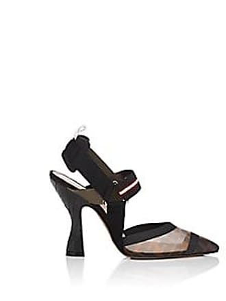 87c925f0671 Fendi Womens Sculpted-Heel Slingback Pumps - Brown Size 10