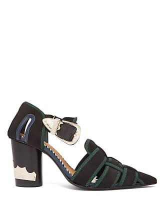 44a76d2b772 Toga Archives Neoprene Strap Ankle Boots - Womens - Black Green