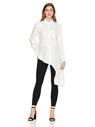 a5e0a7288d6d8 Nanette Lepore Womens Dramatic Asymetrical Hem Button Down Silk Shirt