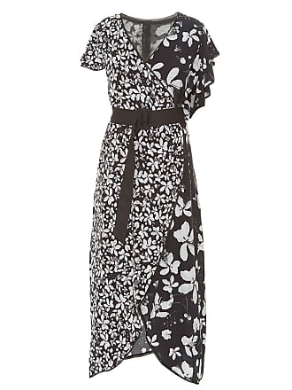 Isolda Vestido Aisha assimétrico - Preto&Branco