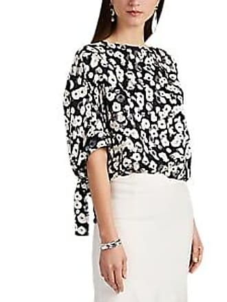 75e76b827fe9d Derek Lam Womens Poppy-Print Floral Silk Jacquard Blouse - Black Multi Size  44 IT