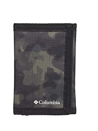 Columbia Tactical Wallets for Men - Sport RFID Blocking Nylon Trifold with Velcro with ID Window and Cash Pockets,Green camo, One sizee
