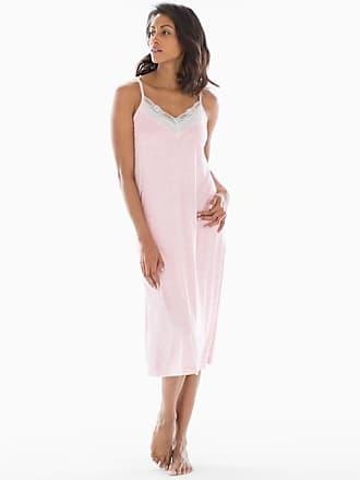 Soma Cool Nights Heather Lace Trim Nightgown Heather Rose Quartz, Size XXL