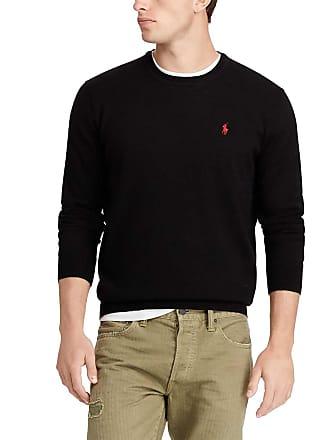 Polo Ralph Lauren Pull en laine mérinos à col rond slim fit Noir Polo ... 854bb0e8d777