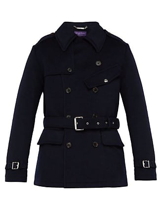 Ralph Lauren Purple Label Trench-coat en laine melton à double boutonnage 944d0fb138b